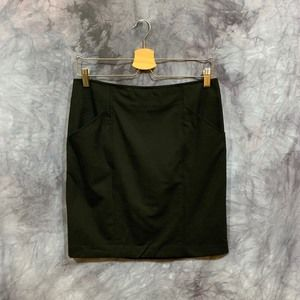 Theory Black Pencil Skirts With Pockets Size 6